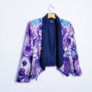 Bebe Women's Blazer Multicolored Cropped